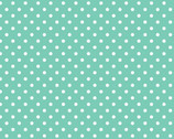 Bro.ther Sis.ter - White Dots Aqua Teal by Ellen Crimi-Trent from Clothworks