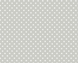 Bro.ther Sis.ter - White Dots Gray by Ellen Crimi-Trent from Clothworks