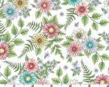 Roam Sweet Home - Wild Flowers White by Kris Lammers from Maywood Studio