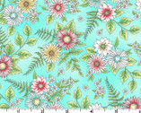 Roam Sweet Home - Wild Flowers Aqua by Kris Lammers from Maywood Studio