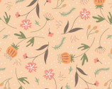In The Woods - Forest Floor Floral Light Orange Peach from Camelot Fabrics
