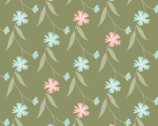 In The Woods - Floral Vine Sage from Camelot Fabrics