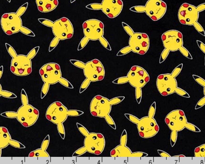 Pokemon Pikachu Red Quilting Fabric Robert Kaufman Fat Quarter