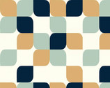 Mod Nouveau Poplin - Geo Tea Drop by Jay-Cyn Designs from Birch Fabrics