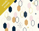 Mod Nouveau Poplin - Oblong Hex Blush by Jay-Cyn Designs from Birch Fabrics
