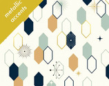 Mod Nouveau Poplin - Oblong Hex Mint by Jay-Cyn Designs from Birch Fabrics
