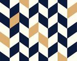 Mod Nouveau Poplin - Offset Navy by Jay-Cyn Designs from Birch Fabrics