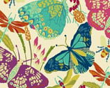 Butterfly Dance - Butterfly Insects Cream by Sally Kelly from Windham Fabrics