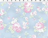 Madeline - Roses Toss Blue from Clothworks