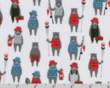 Andie's Minis - Bears Camp Steel by Andie Hanna from Robert Kaufman