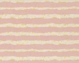 Simply Gold METALLIC Linen Canvas - Stars Stripe Pink from Kokka