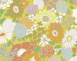 Florette - Florals Yellow Mustard from Quilt Gate