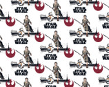Star Wars Refresh FLANNEL - Rey BB8 White from Camelot Fabrics