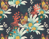 Monarch Grove - Butterfly Floral Multi by Sara Berrenson from Camelot Fabrics