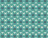 Monarch Grove - Butterfly Hex Sea Blue by Sara Berrenson from Camelot Fabrics