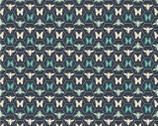 Monarch Grove - Butterfly Hex Blue Nights by Sara Berrenson from Camelot Fabrics
