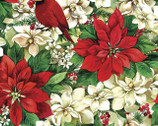 Christmas Garden - Poinsettias Cardinal from Quilter's Palette