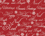 Christmas Garden - Words Red from Quilter's Palette