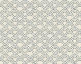 Indigo Prints - Scallops Natural by Hyakka Ryoran from Quilt Gate
