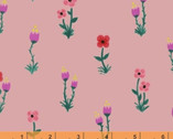Meriwether - Folk Fleur Pink by Amy Gibson from Windham Fabrics