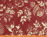 Simply Red - Large Floral Red by Mary Koval from Windham Fabrics