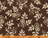 Simply Red - Small Floral Cocoa by Mary Koval from Windham Fabrics