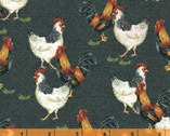 Sunflower Market - Chickens Slate by Whistler Studios from Windham Fabrics