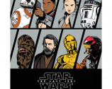 Star Wars The Last Jedi - Resistance Characters PANEL from Camelot Fabrics