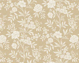 Dream - Flower Trail Cream Beige from Makower UK