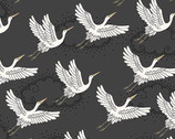 Kimono - Cranes Gray from Makower UK