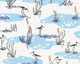 Terrestrial - Wetlands Blue by Sarah Watson from Cloud 9 Fabrics