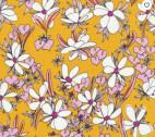 Terrestrial - Magnolia Springs Orange Pink by Sarah Watson from Cloud 9 Fabrics