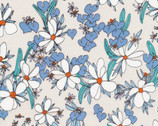 Terrestrial - Magnolia Springs Khaki Blue by Sarah Watson from Cloud 9 Fabrics