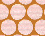 Terrestrial - Disguise Dots Orange Pink by Sarah Watson from Cloud 9 Fabrics