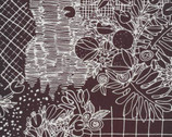 Terrestrial CANVAS - Overgrowth Black by Sarah Watson from Cloud 9 Fabrics