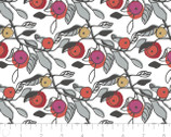 Lintu - Melba Floral White by Finlayson from Camelot Fabrics