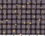 Simply Gold - Constellation Stars Gray METALLIC from Kokka