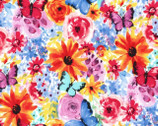 Garden Party - Big Bang Blooms Multi from Michael Miller