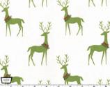 Woodland Winter - Reindeer Mistletoe Green from Michael Miller