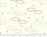 Creekside Daydream - Sky Clouds Birds Ivory by Sherri and Chelsi from Moda