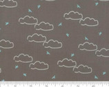 Creekside Daydream - Sky Clouds Birds Stone Grey by Sherri and Chelsi from Moda