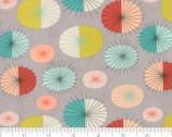 Ninja Cookies - Geometric Starburst Grey by Jenn Ski from Moda