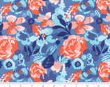 Voyage Kew - Floral Baltic Blue by Kate Spain from Moda