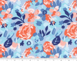 Voyage Kew - Floral Cloud Blue by Kate Spain from Moda