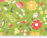 Flower Mill - Bloomy Floral Sprig Green by Corey Yoder Little Miss Shabby from Moda