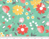 Flower Mill - Bloomy Aqua by Corey Yoder Little Miss Shabby from Moda