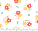 Flower Mill - Floret Daisy White by Corey Yoder Little Miss Shabby from Moda
