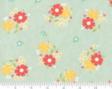Flower Mill - Floret Daisy Mist Aqua by Corey Yoder Little Miss Shabby from Moda