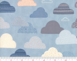 Wild Free - Cloud Skies Blue by Abi Hall from Moda