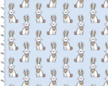 Woodland Tribe - Rabbit Blue from 3 Wishes Fabric